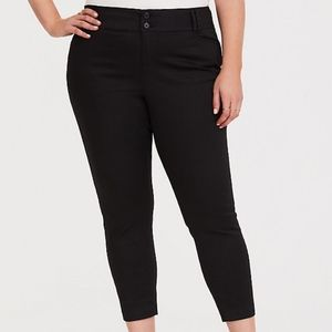 torrid | black sateen ankle skinny dress pant 14